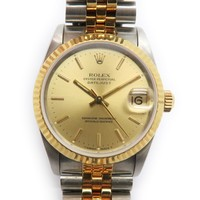 Rolex Datejust Watch 18K Yellow Gold Stainless Steel Gold 68273 4232