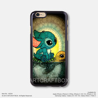 Stitch and Turtle Disney iPhone Case Black Hard case 254