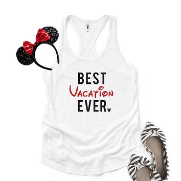 Best Vacation Ever - Disney Christmas | Racerback Tank