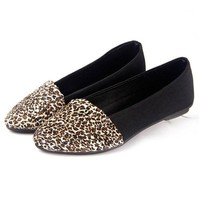 Leopard Print Flat Women Shoes Round Toe Ballet Flat Casual Loafer