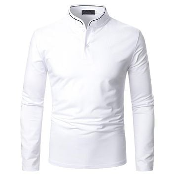 Men's Solid Color Simple Long Sleeve Shirts
