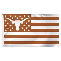 TEXAS LONGHORNS STARS AND STRIPES 3'X5' DELUXE FLAG NEW  SHIPPING WINCRAFT