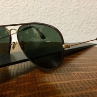 RAY BAN LEATHER WRAPPED MENS SUNGLASSES EXTREMELY RARE! WOW!