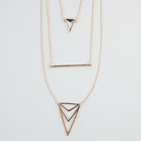FULL TILT 3 Row Triangle/Bar Necklace 243559191 | Necklaces