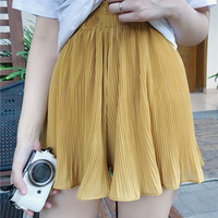RUFFLE PLEATED SKIRT