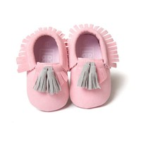 Soft PU Leather Tassel Moccasins  First Walkers