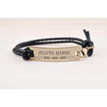 Fully Adjustable Braided Leather Inspirational Bracelet by Pink Box