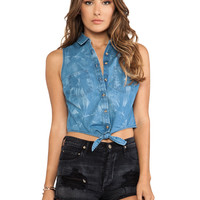 Obey Oliver Top in Blue