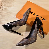 Louis Vuitton LV Women Fashion Pointed Toe High Heels Shoes