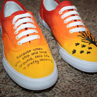 Ombre Design and Quote Custom Shoe