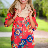 In Paradise Blouse, Coral