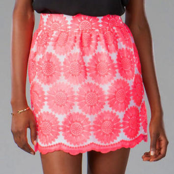 JOYCE EMBROIDERED FLORAL SKIRT