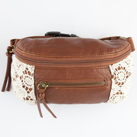 T-Shirt & Jeans Crochet Side Fanny Pack Cognac One Size For Women 26369840901