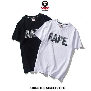 Couple Cotton T-shirts Bottoming Shirt [1840847159347]