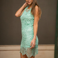 Mermaid For Each Other Dress, Mint