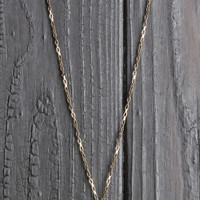 Tribal Half Moon Necklace - Gold