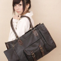Womens' Chic 3 Way Style Satchel Shoulder Bag with Coin purse handbag