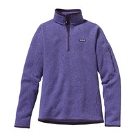 Patagonia Women's Better Sweater® 1/4-Zip Fleece Pullover | Black