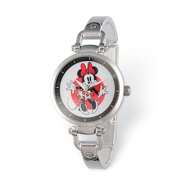 Disney Adult Size Minnie Mouse Silver-Tone Bracelet Watch