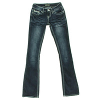 ZCO Jeans Womens Embellished Denim Bootcut Jeans