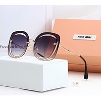 Miu Miu Summer Stylish Ladies Delicate Personality Sun Shades Eyeglasses Glasses Sunglasses Purple I-A-SDYJ