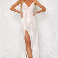 See You Dance Maxi Dress White