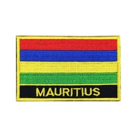 Mauritius Flag Patch Iron on Patch Sew On Patches back patch
