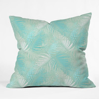 Aimee St Hill Pale Palm Outdoor Throw Pillow