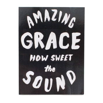 Amazing Grace Black Sticker