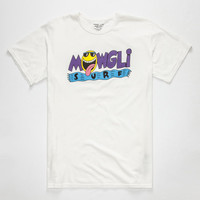 Mowgli Surf Oh Yeah Mens T-Shirt White  In Sizes