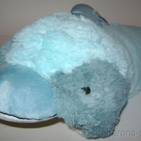 Cuddly Dolphin Chenile Large Plush Soft Stuffed Animal Changes Pillow Pet