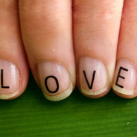 Letter Nail Decal Stickers - Full Alphabet Set - Multiple Uses - Very Easy To Apply