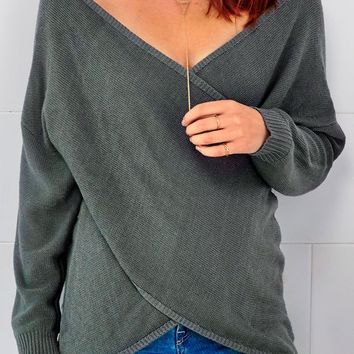 Cupshe Play Your Game Asymmetric Sweater