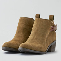 AEO Strap + Buckle Heeled Bootie, Olive