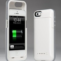 Best Iphone 5/5s Battery Case Rechargeable External Power Charge Backup 2500mAh (White)