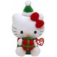 Ty Beanie Babies Hello Kitty With Present