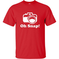 Oh Snap Funny Printed Photographer or Humor T Shirt As Seen On TV iconic Humor T Shirt Christmas Gift College Shirts 20 Colors & Styles