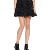 Cupid Scroll Flocked Scuba Skirt by Juicy Couture