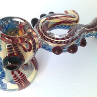 """On Sale 50 % off ! - Extended 6"""" inch Handmade Tall Sherlock Glass Pipe - Dragon Sherlock Pipe ( Only 1 piece Remaining )"""