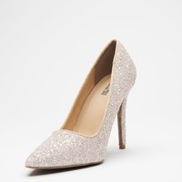 Global Glam Glitter Heels (Nude)