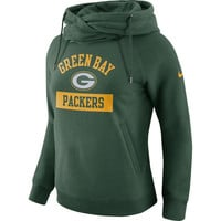 Women's Green Bay Packers Nike Green Tailgate Funnel Pullover Hoodie