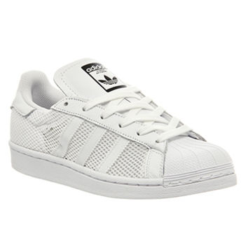 Adidas Superstar 1 White Mono Mesh - His trainers