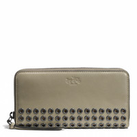 BLEECKER GROMMETS ACCORDION ZIP WALLET IN LEATHER