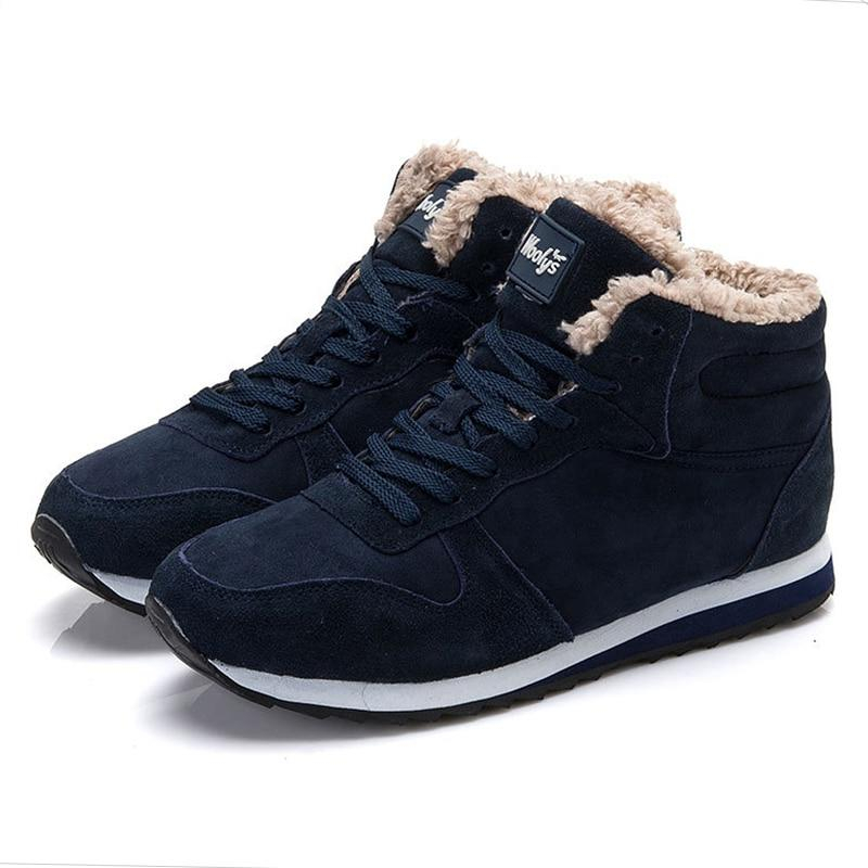 Image of Men Shoes Winter Sneakers Suede Leather Tenis Trainers Mans Footwear Warm Winter Shoes Basket Homme Mens Shoes Casual Plus Size