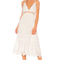 Zimmermann Curacao Crinkle Dress in Ivory | REVOLVE