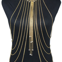 Gold Plated Body Chain Necklace