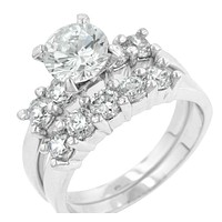 Alexis 2.2(ct) Round Engagement Wedding Ring Set | 4ct