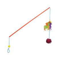Petstages Feathers & Catnip Wand Pounce N Play Cat Toy