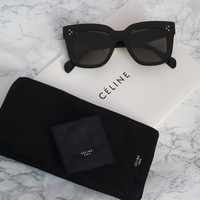 Celine Kim Oversized Square Sunglasses in Black