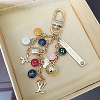 LV Louis Vuitton Color round small steel ball key ring fashion - buckle key chain